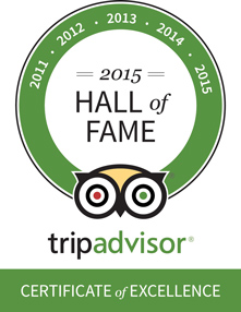 Trip Advisor – Certificate of Excellence '16