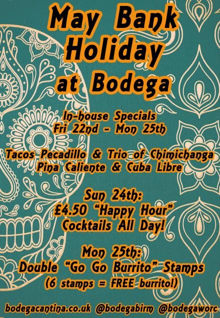 Bank Holiday Specials @ Bodega B & Bodega W