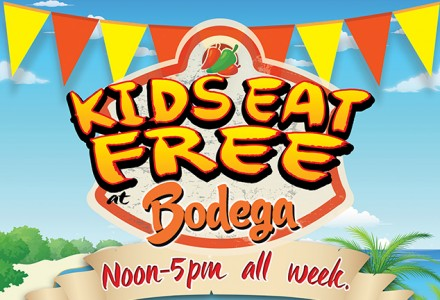 Kids Eat Free @ Bodega Worcester!