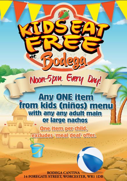 Kids Eat Free @Bodega Worcester!