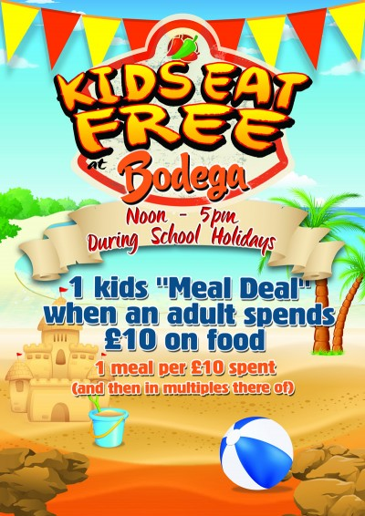 Kids Eat Free @Bodega Worcester