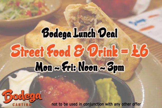 Tuck Into the £6 Lunch @ Bodega Worcester, Leicester & Derby!